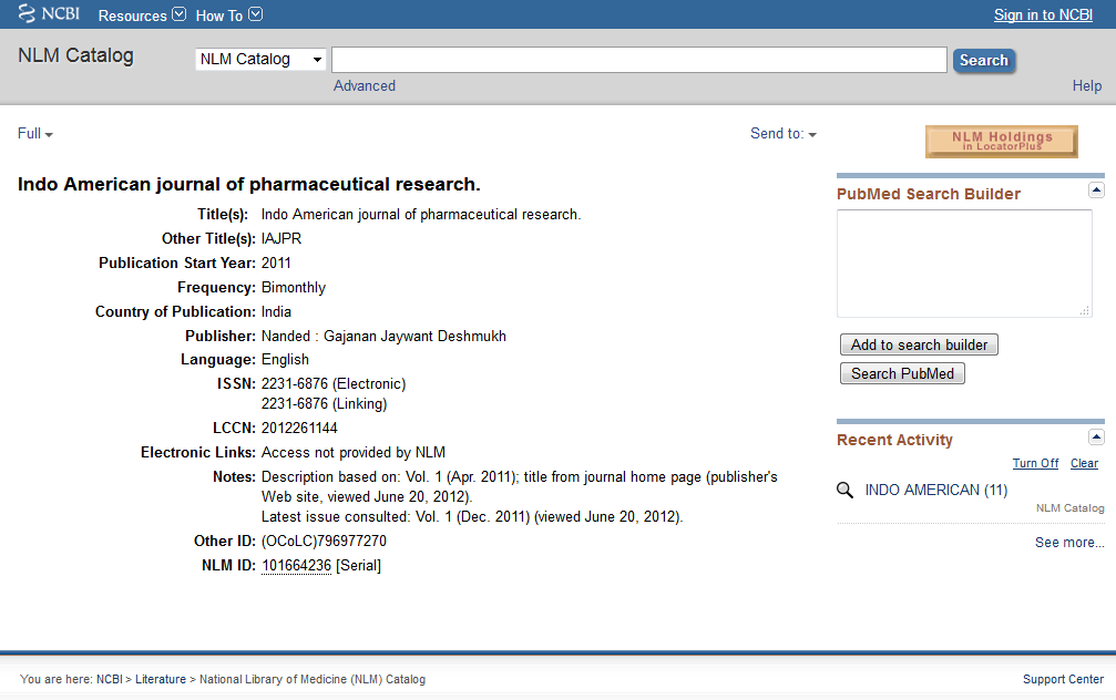Welcome to Indo American Journal of Pharmaceutical Research